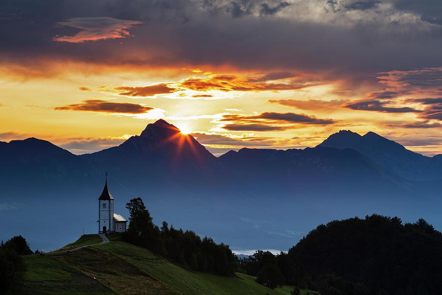 Sunrise over the Kamnik Alps by Ian Middleton