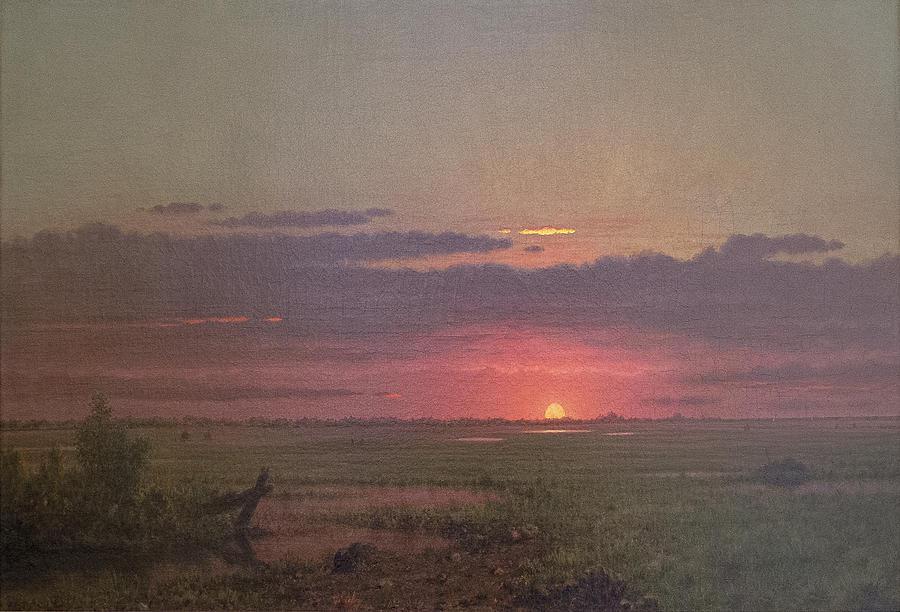 Sunrise Over the Marsh by David Lloyd Glover