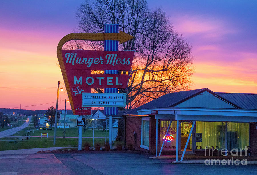 Sunrise over the Munger Moss Motel by Garry McMichael