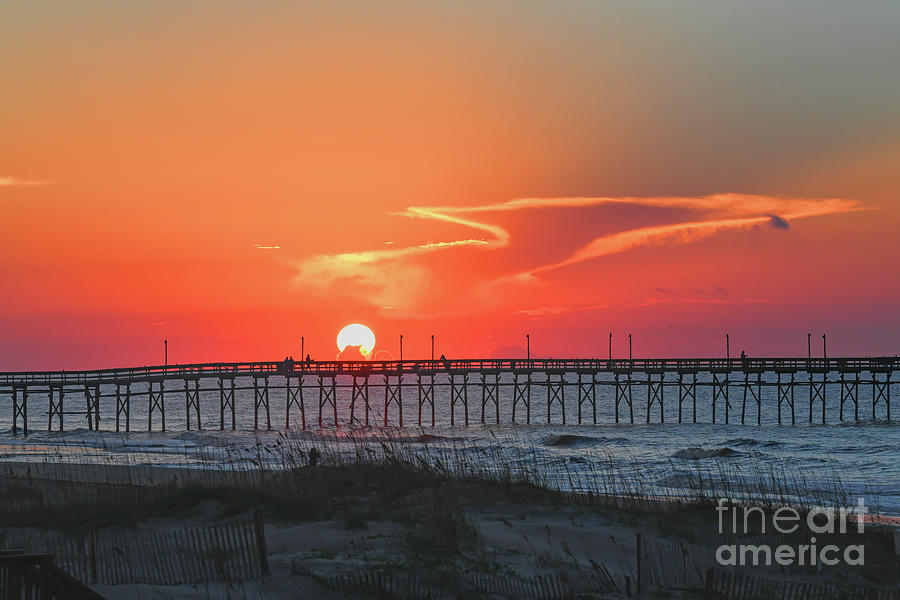 Sunrise Over the Ocean Isle Beach Pier by Kerri Farley