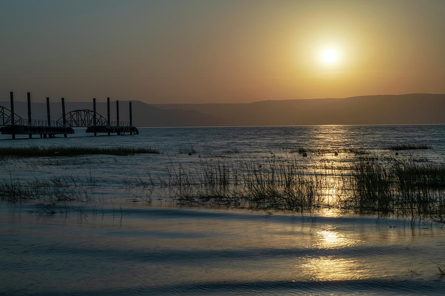 Sunrise over the Sea of Galilee 3 by Dubi Roman