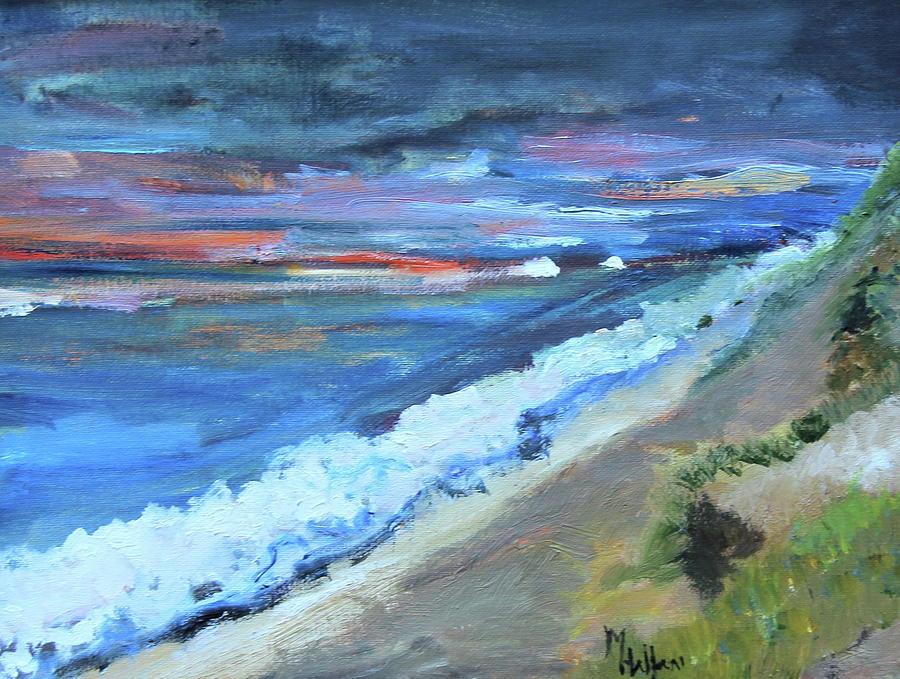 Sunrise over White Crewst Beach by Michael Helfen