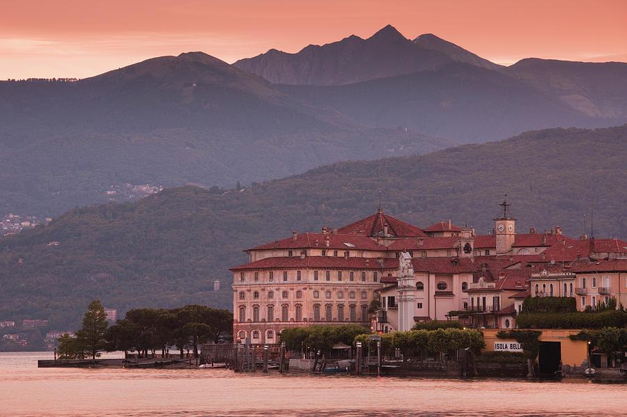 Sunrise, Palazzo Borromeo, Isola Bella Photograph by Walter Bibikow