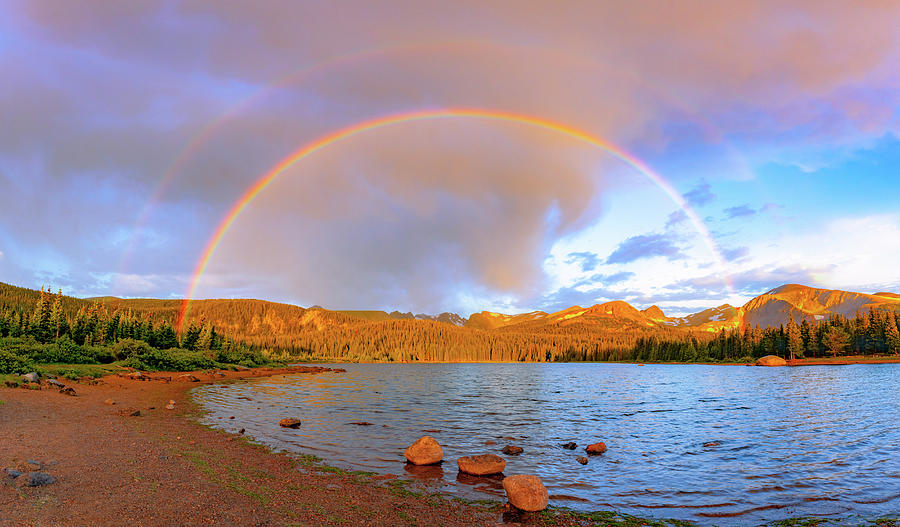 Sunrise Rainbow over Brainard Lake by Gary Kochel