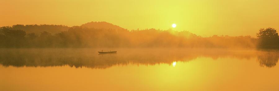 Horizontal Photograph - Sunrise Saga Kyoto Japan by Panoramic Images