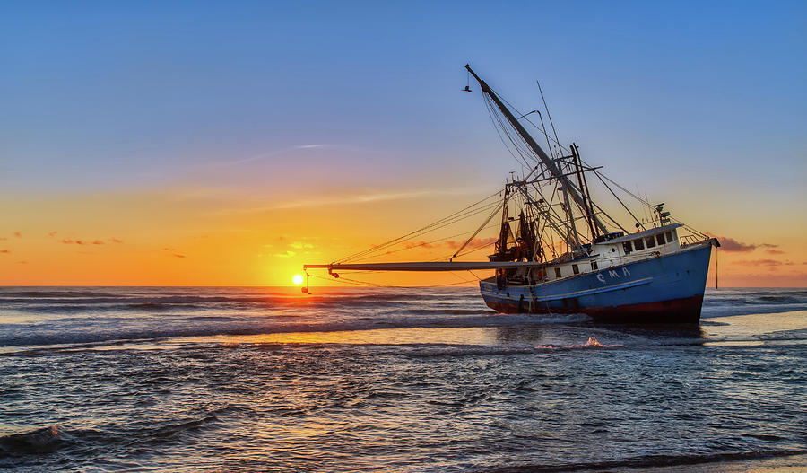 Sunrise Shrimp Boat 2 by Dillon Kalkhurst