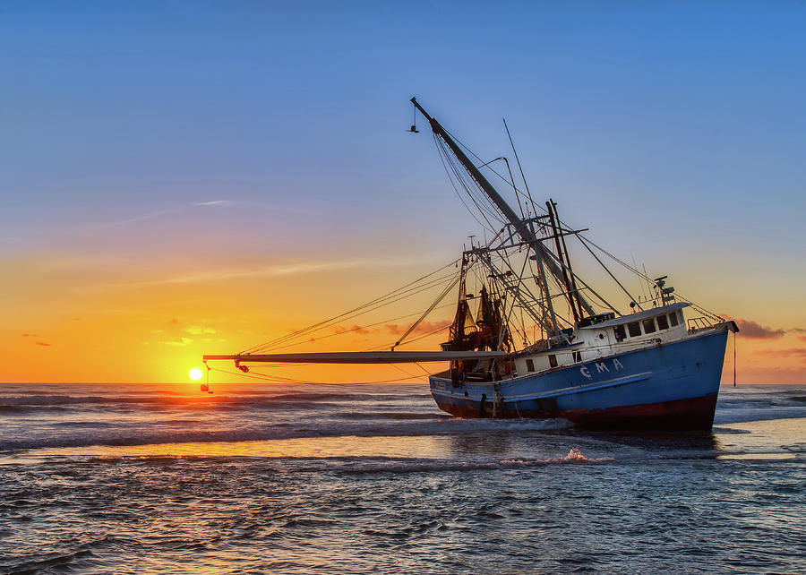 Sunrise Shrimp Boat by Dillon Kalkhurst