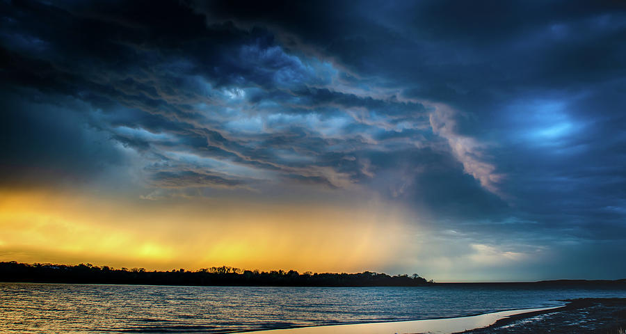 Sunrise Storm pano by Jeff Phillippi