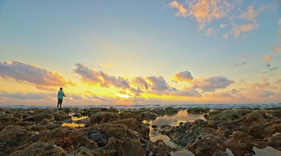 Sunrise Surf Fishing 2 by Steve DaPonte