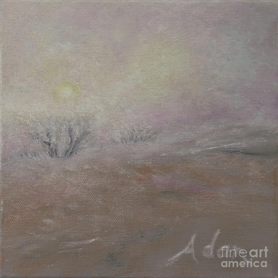 Decorative Painting - Sunrise Through The Fog by Felipe Adan Lerma