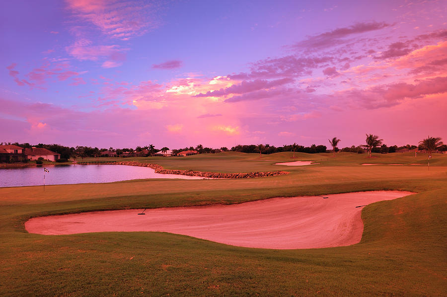 Sunrise View Of A Resort On A Golf Photograph by Rhz