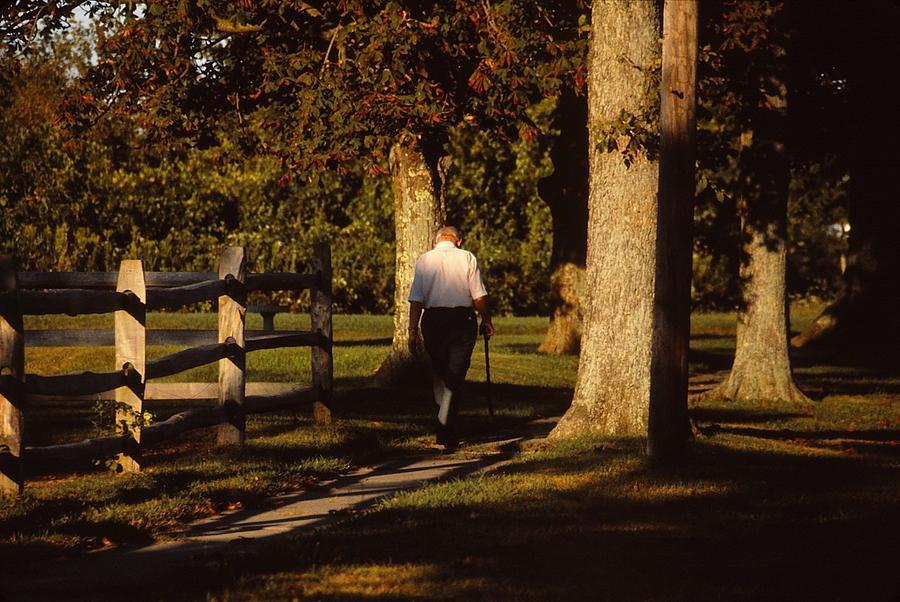 Old Man Photograph - Sunrise Walk by Marty Klar