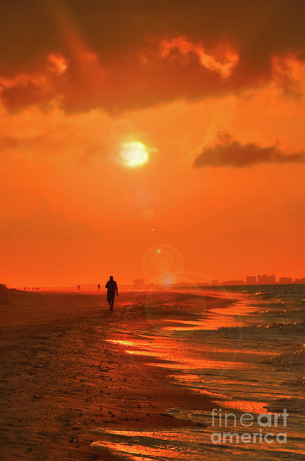 Sunrise Walk on Sanibel Island by Jeff Breiman