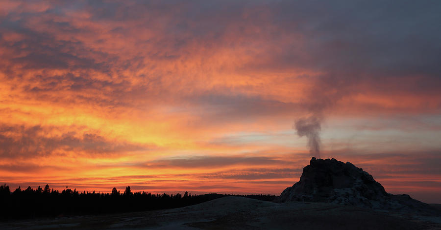 Sunset Photograph - Sunset 0ver White Dome Geyser by Jean Clark