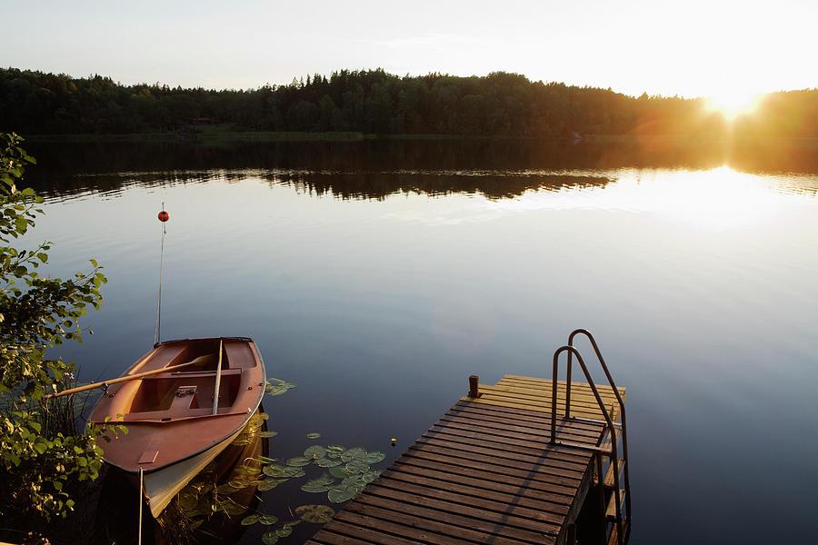 Sunset, Akersberga, Sweden Photograph by Johner Images