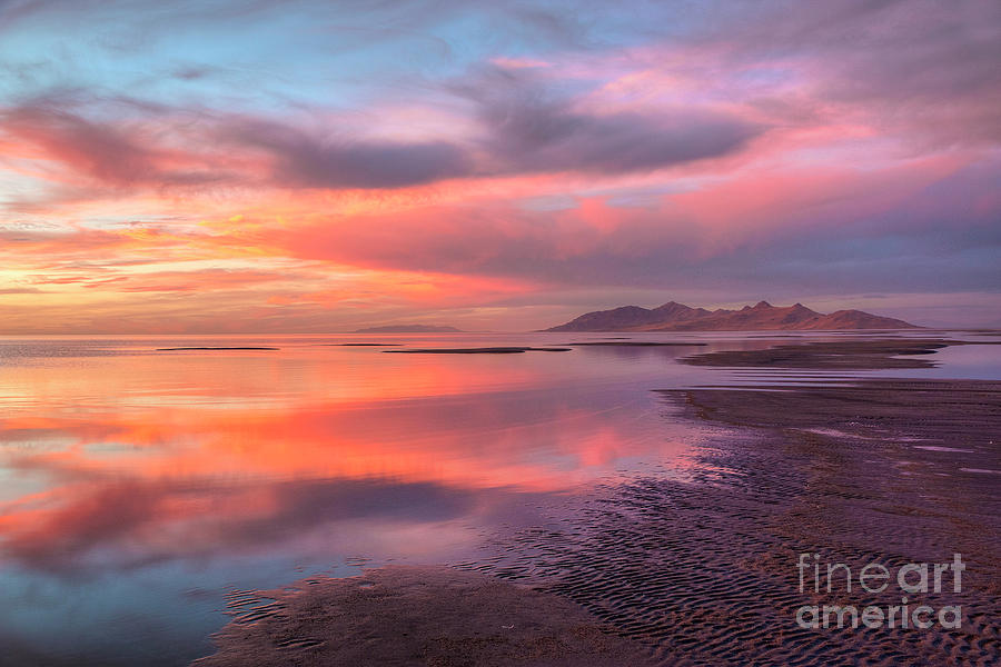 Sunset and Antelope Island by Spencer Baugh
