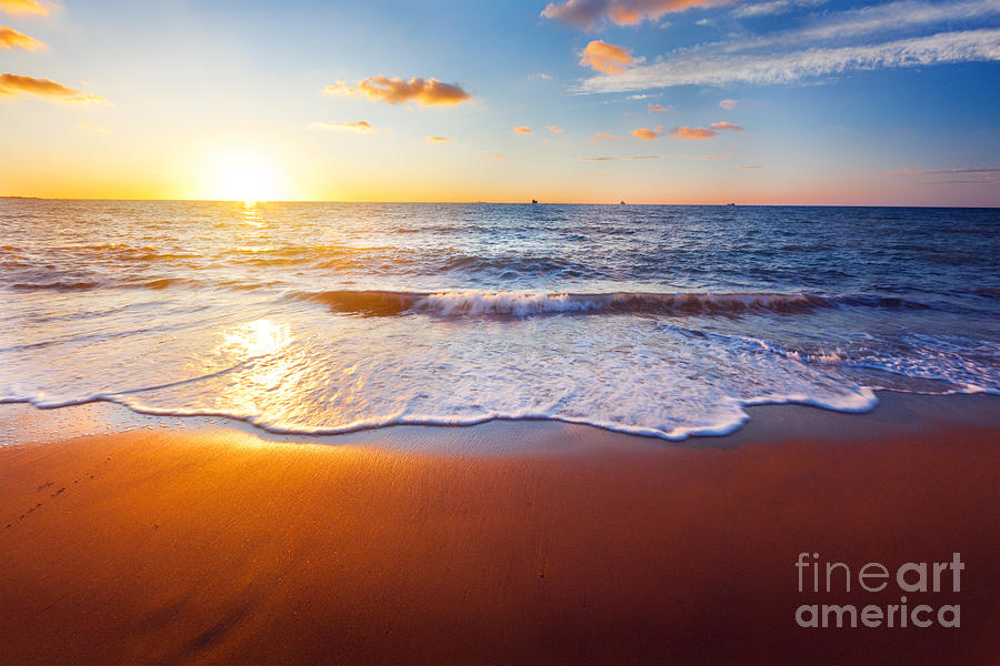 Atmosphere Photograph - Sunset And Beach by Ozerov Alexander