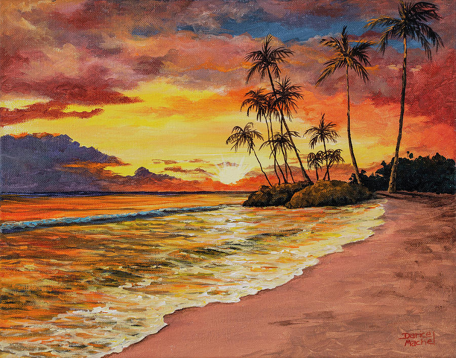 Sunset And Palms by Darice Machel McGuire