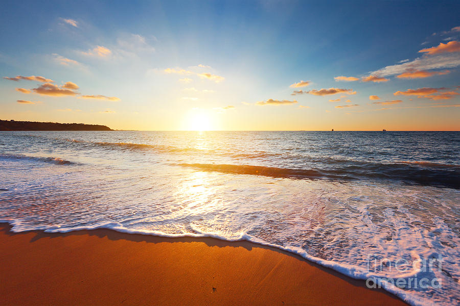 Atmosphere Photograph - Sunset And Sea by Ozerov Alexander