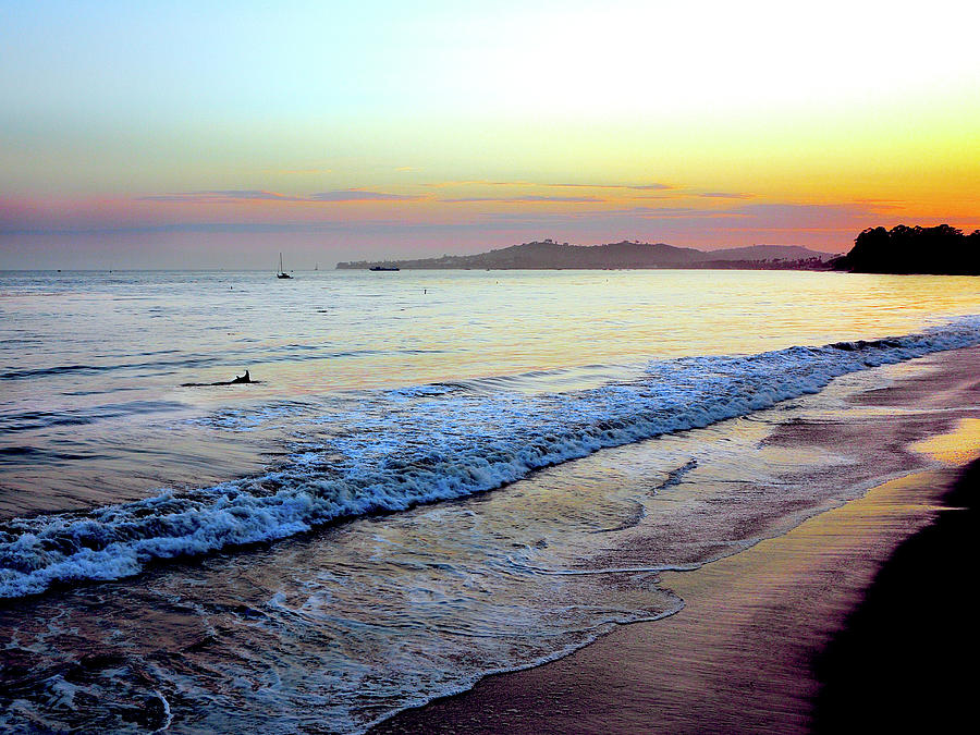 Sunset At Butterfly Beach, Santa Photograph by Geri Lavrov