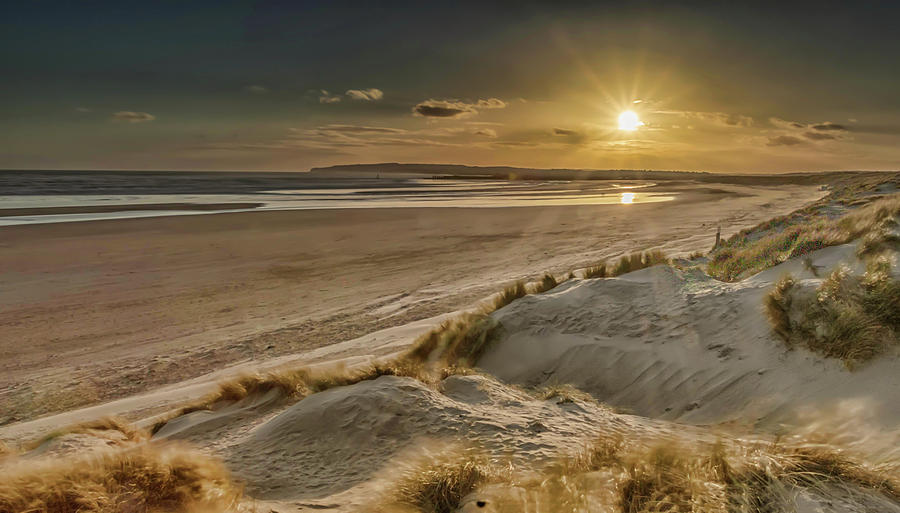 Sunset Photograph - Sunset At Camber Sands by Louise Hubbard