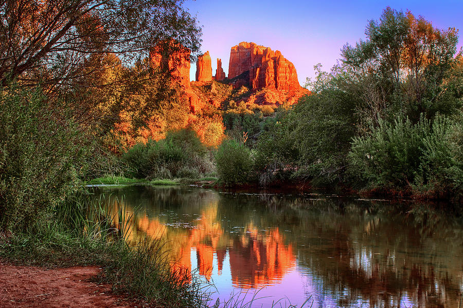 Sunset at Cathedral Rock by Robert Blandy Jr