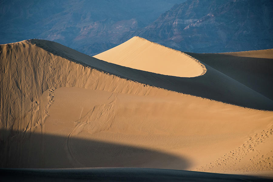 Sunset at Death Valley Sand Dunes by Jennifer Ancker
