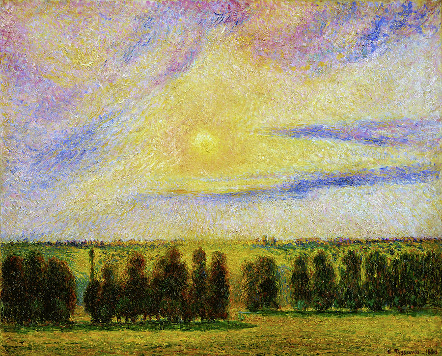 Camille Pissarro Painting - Sunset At Eragny - Digital Remastered Edition by Camille Pissarro