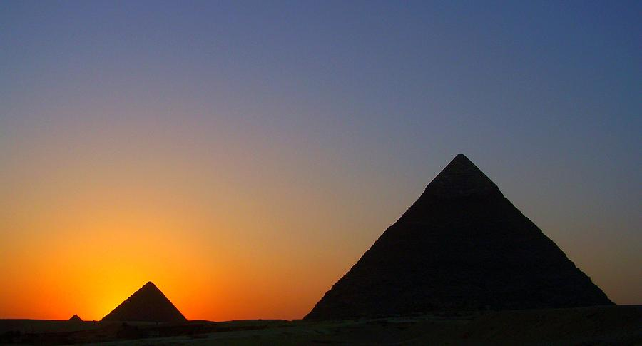 Sunset At Giza, Egypt Photograph by Photo By Rebecca Dawn Charles