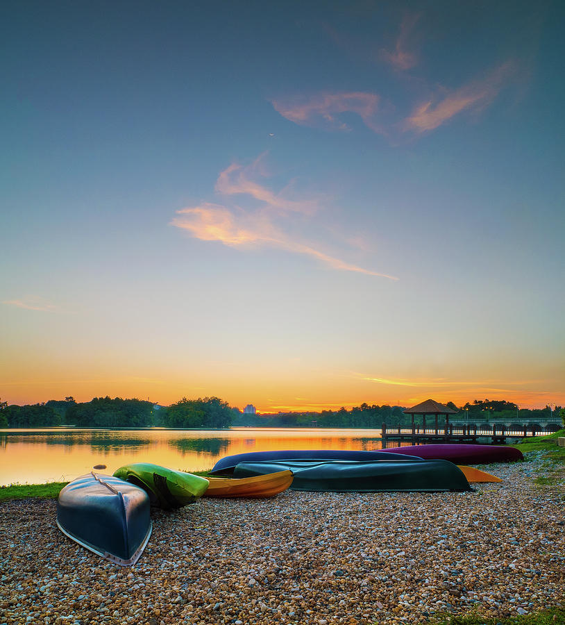 Sunset At Kayak Putrajaya Lake Photograph by Muhammad Hafiz Bin Muhamad