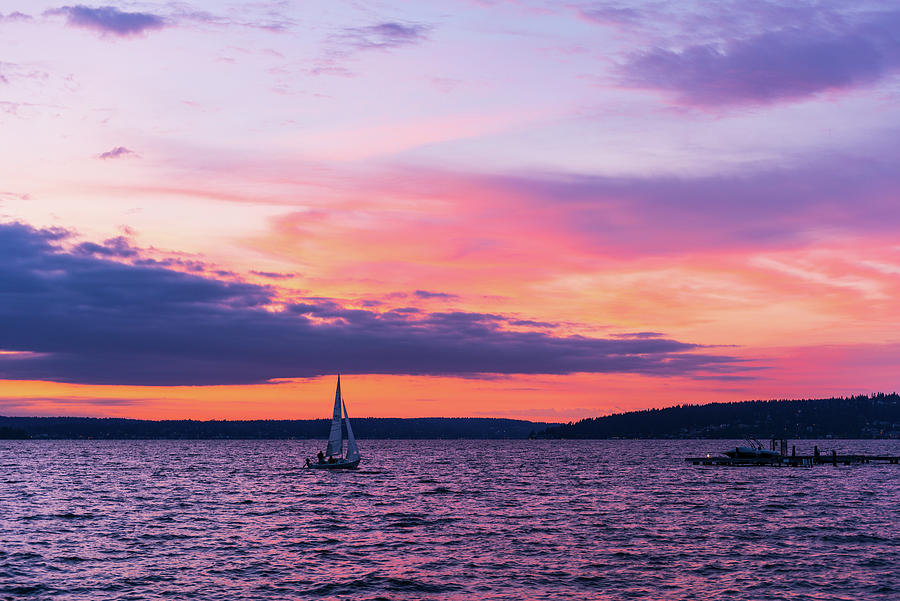 Sunset at Kirkland WA by Michael Lee