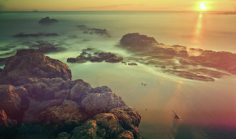 Sunset At Laguna Beach California, Usa Photograph by Presented By Zolashine