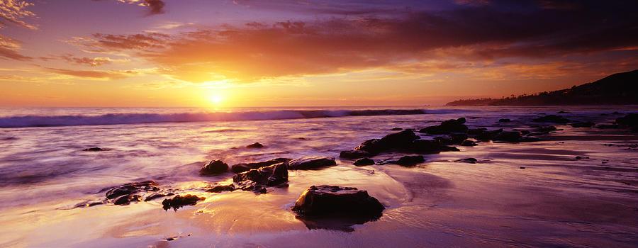Sunset At Laguna Beach Photograph by Jason v