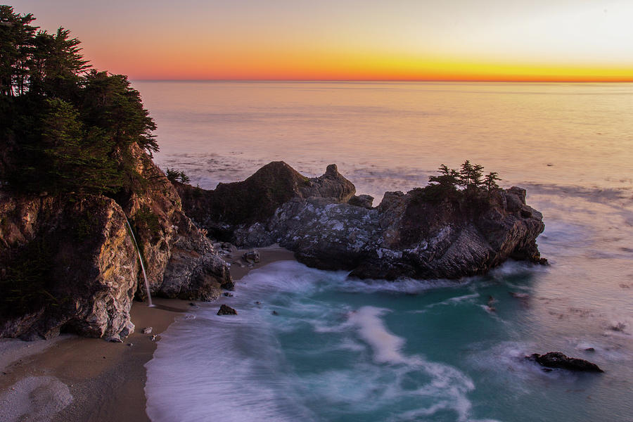 Sunset At Mcway Falls Photograph by Yun Chung