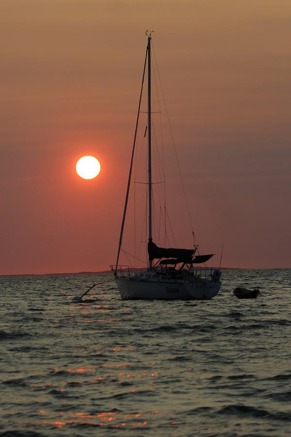 Sunset Photograph - Sunset At Menemsha by On The Go Candace Daniels