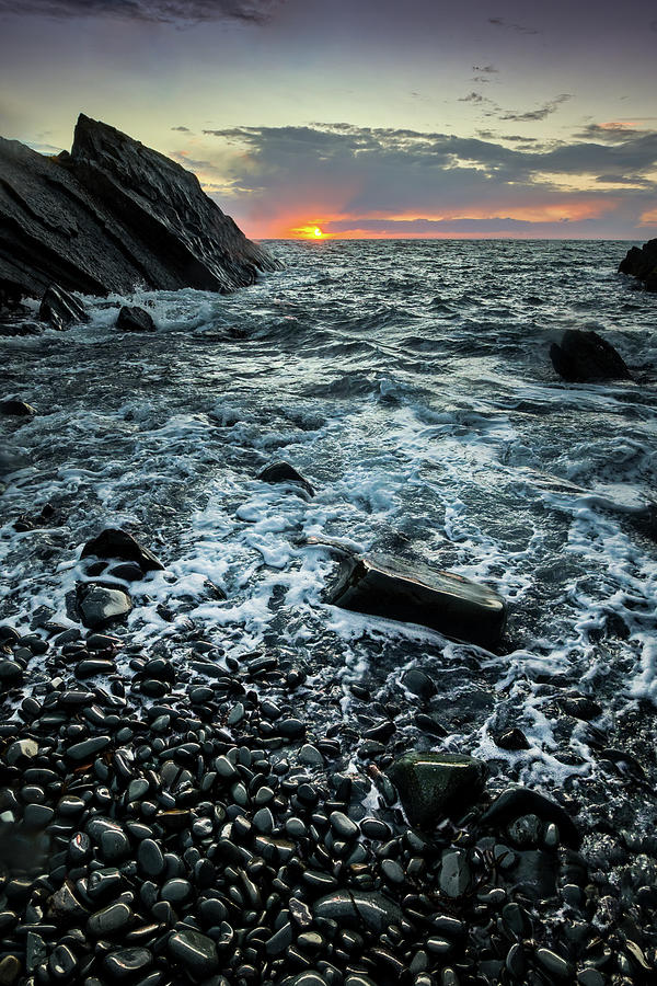 Sunset at Quarry Bay, Port Logan by Peter OReilly