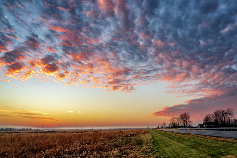 Sunset at Riverlands W Alton MO_GRK1056_11292018 by Greg Kluempers
