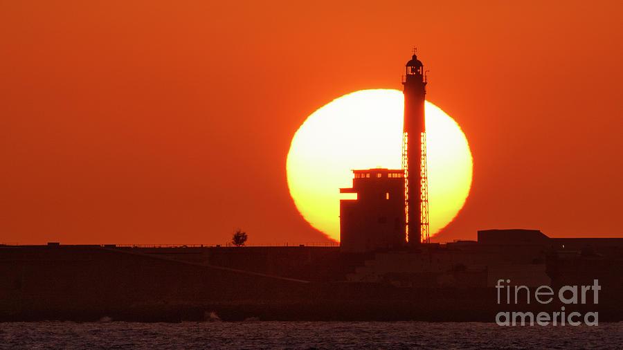 Sunset at Saint Sebastian Lighthouse by Pablo Avanzini