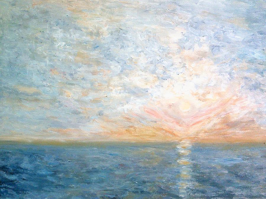 Sunset At Sea by Peter Gartner