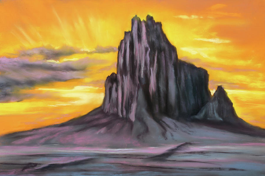 Sunset at Shiprock by Sandi Snead