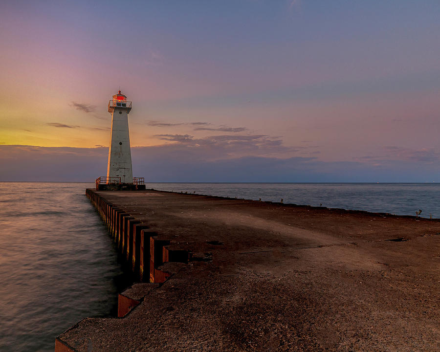 Sunset at Sodus Point by Rod Best