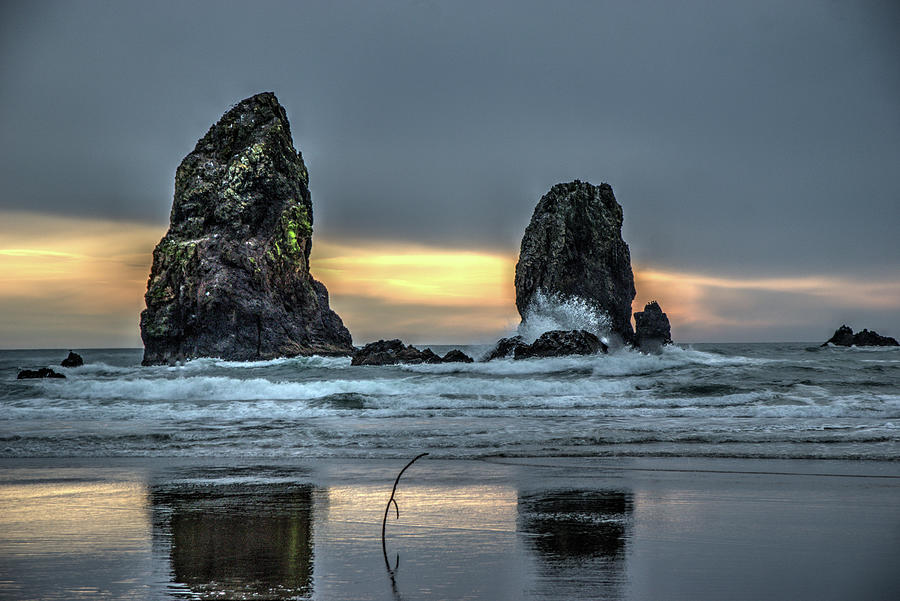 Sunset at the Canon Beach by Dimitry Papkov
