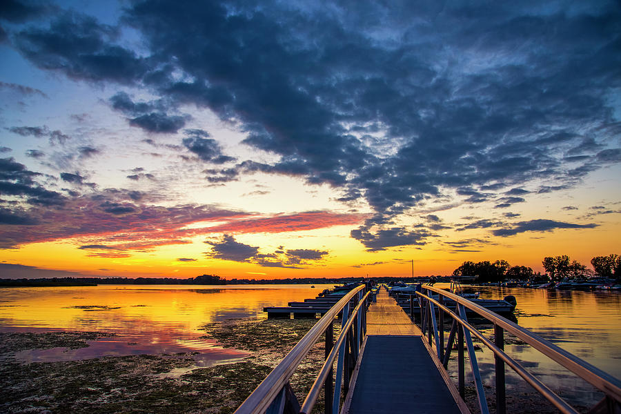 Sunset At The Dock Of The Bay by Mark Papke