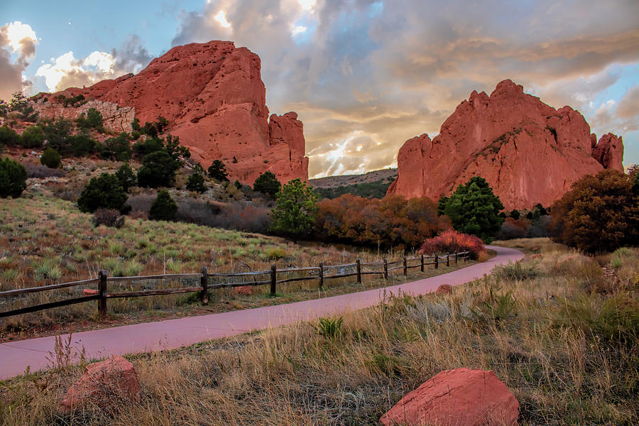 Sunset At The Garden Of The Gods by Kristia Adams