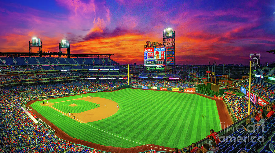 Sunset at the Phillies by Nick Zelinsky