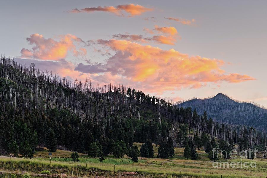 Sunset at Valles Caldera National Preserve - Jemez Mountains New Mexico Land of Enchantment by Silvio Ligutti