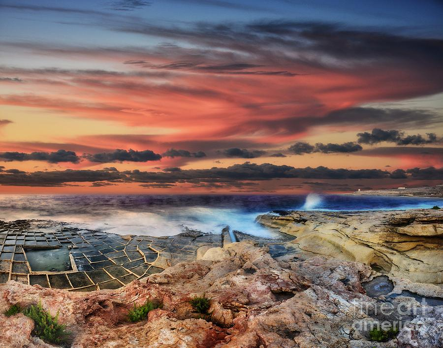 Sunset at White Rocks in Malta by Stephan Grixti