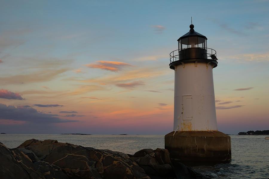 Sunset at Winter Island Lighthouse by Jeff Folger