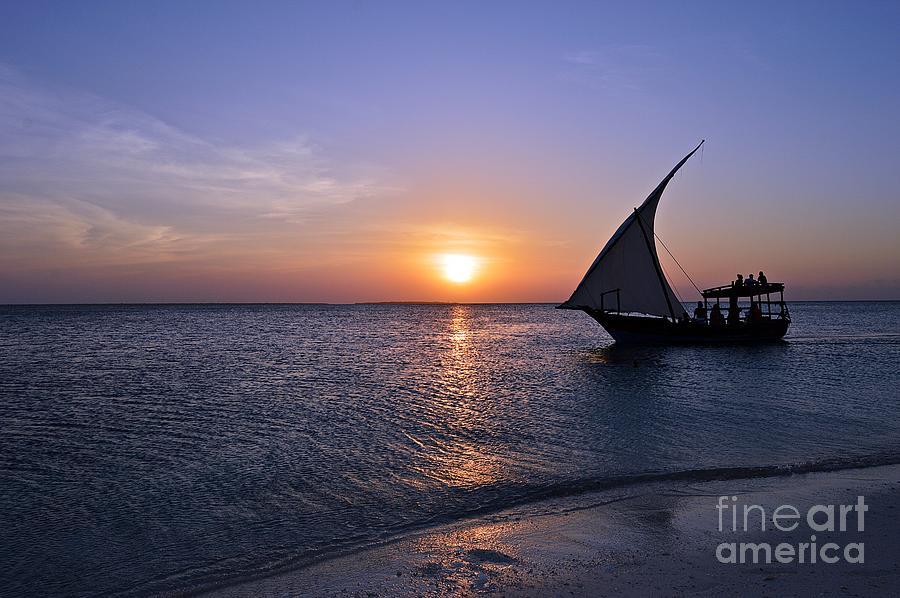 Sunset at Zanzibar by Thomas Schroeder