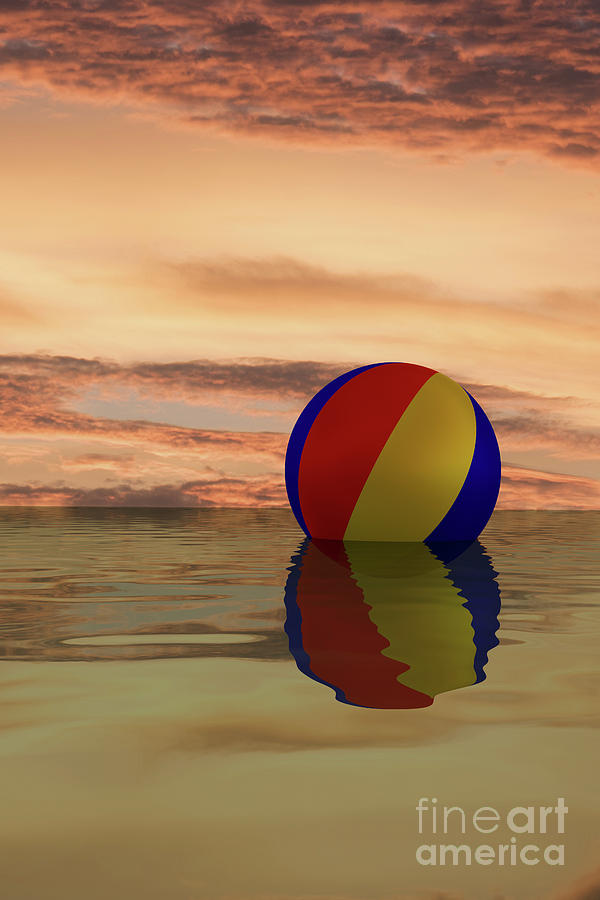 Sunset beach ball by Clayton Bastiani